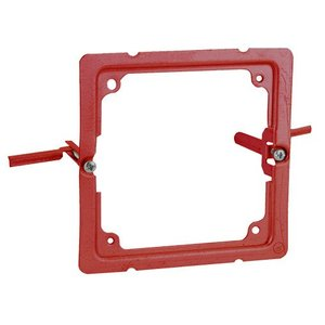 Hubbell-Raco 911-19 4SQ RETRO RING BOX MOUNT ALARMS - RED