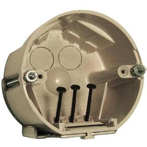 "Allied Moulded SB-CBFR Fixture Box with Bracket, Diameter: 4"", 2-3/4"" Deep, Non-Metallic"