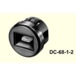 "4380-01 Terminal Bushing Receptacle, DC 68-1-2 with T-202-D (1/4"") Terminal, Nylon, Black"
