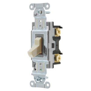 Hubbell-Kellems CSB420I Specification, Commercial Switch, Single Pole, 20A, Ivory
