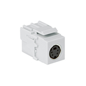 40734-CVW WHT SNAPIN S-VIDEO COUPLER F/F