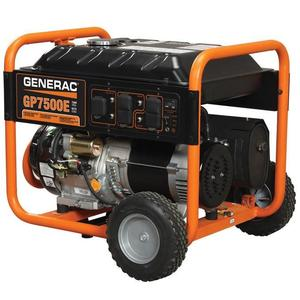 Generac 5943 Generator, Portable, 7500 Watt, Electric Start
