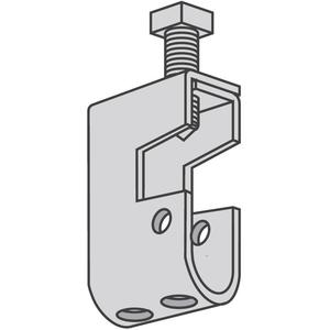 "Power-Strut PS2622-EG Beam Clamp, Type ""C"", For Use With Threaded Rod, Steel/Electro-Galvanized"