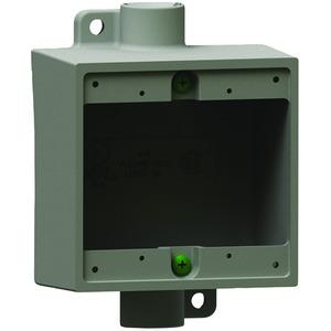 "Hubbell-Killark 2FDC-2 3/4""Aluminum, 2FDC Type Two Gang Deep Device Box"