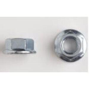 "Bizline 1420FNSS Serrated Flange Nut, 1/4"", Stainless Steel"