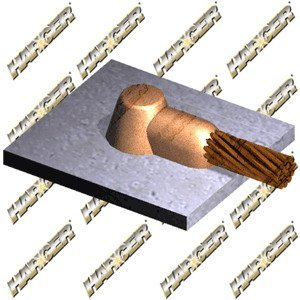 Harger Lightning & Grounding HD2/0B 2/0 TO FLAT STEEL