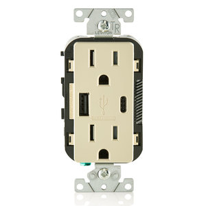 Leviton T5633-I T5633-I, 15A/USB/TR