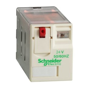 Square D RPM21B7 Relay, Plug-In, 15A, 24VAC Coil, Test Button, Lock-Down Door