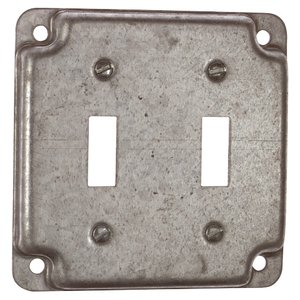 "Steel City RS-5 4"" Square Exposed Work Cover, (2) Toggle Switch"