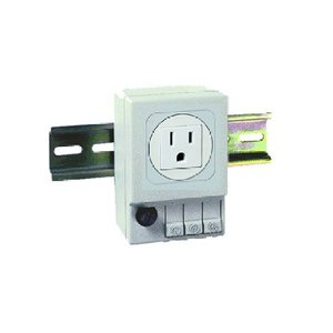 nVent Hoffman ADINP120F NEMA 5-15R DIN-Mounted Outlet