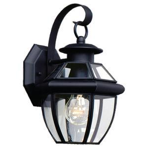 Sea Gull 8037-12 1-Light Outdoor Lantern, 100W, Black Finish