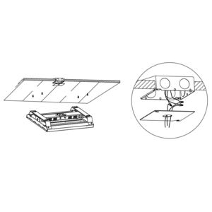 DECO Lighting DHL-LP-4L-SU Surface Mount Kit for High-Bay Flat Panel, 2 Piece Set