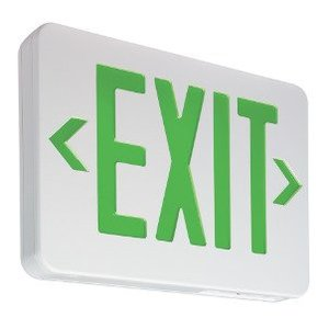 Philips - Light To Go WE125L2IT8 LED Exit Sign, Green Lettering