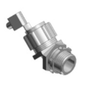 """Thomas & Betts 5247GR Liquidtight Grounding Connector, 45°, 2-1/2"""", Non-Insulated"""