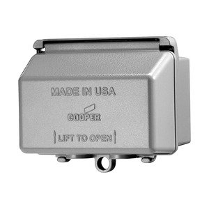 Eaton Wiring Devices WIUMH-1 COVER WHILE IN USE WBX 1G DIECAST HOR GY *** Discontinued ***