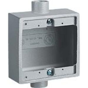 "Hubbell-Killark 2FSC-2M 3/4""Iron, 2FSC Type Two Gang Shallow Device Box"