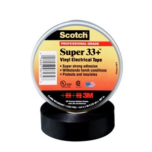 "3M 33+SUPER-3/4X36YD Super 33 Vinyl Electric Tape, 3/4"" x 36 Yards, Black"