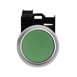 Eaton M22-D-G-K11-P Push Button, Flush, Green, 22.5mm, 1NO/NC Contact, Non-Metallic