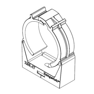 "Litchfield International H88.47-LOK Locking PVC Clamp, Size: 1-1/2"", Non-Metallic"
