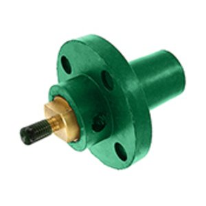 Leviton 17R22-G Female, Panel Receptacle, 90 Deg., 250-750 MCM, Threaded Stud, Cam-Type, Green