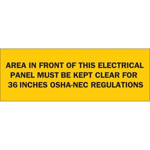 Brady 84949 Electrical Hazard Sign