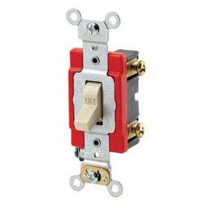 Leviton 1221-2I Single-Pole Toggle Switch, Ivory