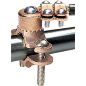 "Greaves G15 Water Pipe Ground Clamp, Bronze, 2-1/2"" - 4"" Pipe, 4/0 AWG Max"