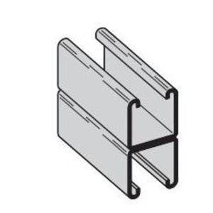 "Eaton B-Line B22A-120AL Channel - Back To Back, Aluminum, 1-5/8"" x 3-1/4"" x 10'"