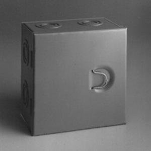 "Cooper B-Line 664-HC-NK Junction Box, NEMA 1, Hinge Cover, 6 x 6 x 4"", Steel/Gray"