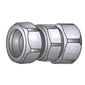 "OZ Gedney 30-075 Rigid Compression Coupling, 3/4"", Malleable"