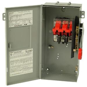 Eaton DH362URK Safety Switch, 60A, 3P, 600VAC/250VDC, DH, Non-Fusible, NEMA 3R