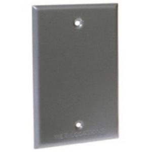 Hubbell-Raco 5173-0 Weatherproof Cover, 1-Gang, Vertical/Horizontal, Blank, Die Cast