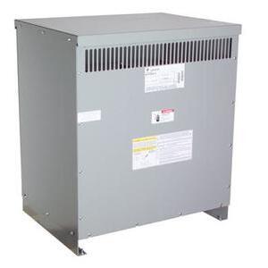 ABB 9T83C9874G15 Transformer, Dry Type, 75KVA, 480  Delta Primary, 208Y/120V Secondary