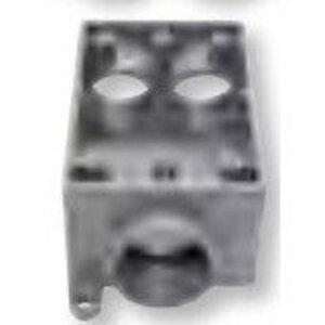 "Bizline FSCC075 FSCC Box, Weatherproof, Feed-Thru, 1-Gang, With Lugs, 3/4"""