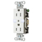 Hubbell-Wiring Kellems DR15NLWH TAMP RES DECO FACE NL 5-15R WH