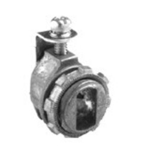 "Bridgeport Fittings 560-DC2 AC/MC Connector, Strap Type, 1/2"", 0.44 -0.61 "", Zinc Die Cast"