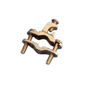 "Erico Cadweld EK17 Bare Wire Ground Clamp, Open Lug, 3/8"" to 1"", Bronze"
