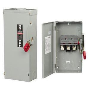 ABB TH3221R Disconnect Switch, 30A, 240VAC, 250VDC, 2P, Fusible, NEMA 3R