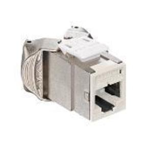 Leviton 6ASJK-RI6 Atlas-X1 Cat 6A Shielded QuickPort Connector, Component-Rated, Ivory
