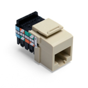 Leviton 41108-RI3 Snap-In Connector, QuickPort, Category 3, 8P8C, Ivory