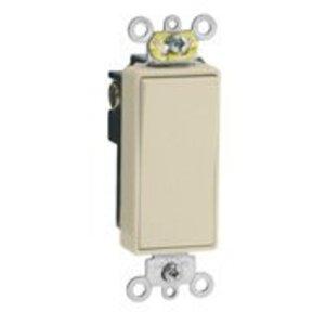 Leviton 5691-2I Decora Switch, 15A, 120/177V, 1-Pole, Ivory, Back/Side Wired