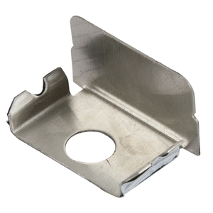 Wiremold S2010B Entrance End Fitting, Plugmold 2000 Series, Stainless Steel