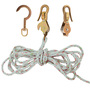 H1802-30SSR  BLOCK&TACKLE W/HOOKS & ROPE