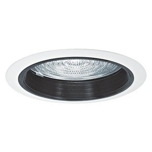 "Elite Lighting B536WH Baffle Trim, 5"", White, Fresnal Lens"