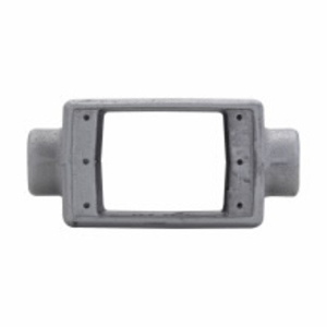 """Cooper Crouse-Hinds FSC152 FS Device Box, FSC Type, Double Face, Feed-Thru, 1-Gang, 1/2"""", Steel"""