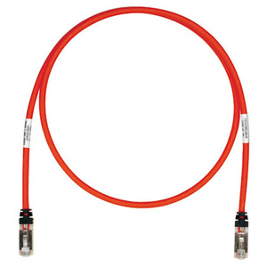 Panduit STP6X1MRD Copper Patch Cord, Cat 6A, Red S/FTP Cab