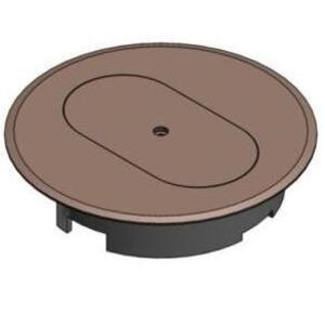 """Carlon E97DSC Round Duplex Receptacle Cover, Diameter: 5"""", Non-Metallic"""