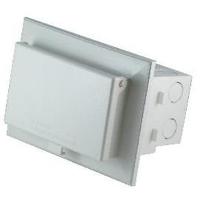 Arlington DBHB1W Weatherproof-In-Use Box, 1-Gang, Recessed, Horizontal, Non-Metallic