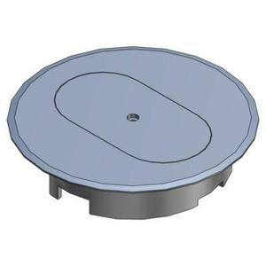 "Carlon E97DSS Round Cover, Diameter: 5"", Type: Duplex Receptacle, Non-Metallic"