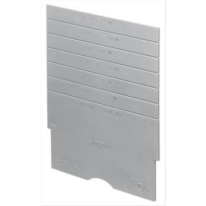 Hubbell-Kellems S1DIV1 Partition For Floor Box, Hubbell Systems One Series, Non-Metallic